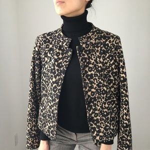 Ultra Chic Leopard collarless jacket